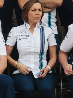 Claire Williams, Williams Deputy Team Principal at a team photograph