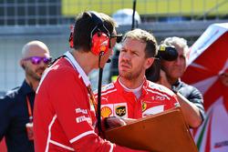 Sebastian Vettel, Ferrari and Riccardo Adami, Ferrari Race Engineer