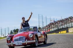 Daniel Ricciardo, Red Bull Racing lors de la parade des pilotes