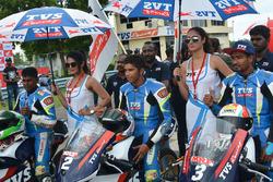 Jagan Kumar, KY Ahamed, Kannan S and grid girl
