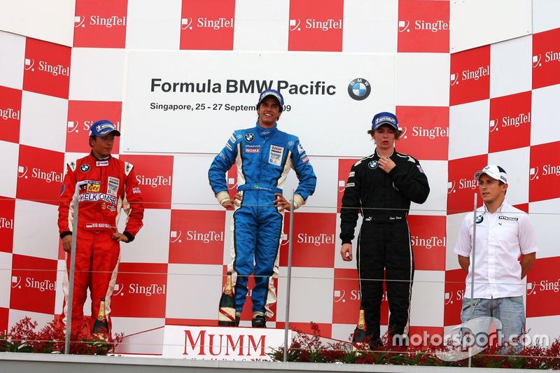 Podium: Felipe Nasr, Rio Haryanto, James Kovacic