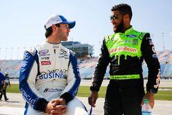 Daniel Suárez, Joe Gibbs Racing Toyota and Darrell Wallace Jr., Biagi-DenBeste Racing Ford