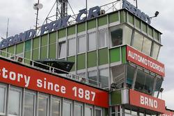 Start/Ziel-Gebäude in Brno