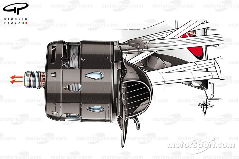 Ferrari SF70H aangeblazen as