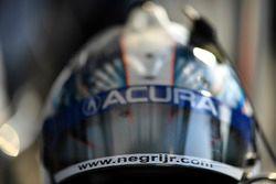 Oswaldo Negri Jr., Michael Shank Racing's helmet