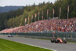 Стоффель Вандорн, McLaren MCL32, и Маркус Эрикссон, Sauber C36