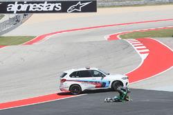 Stefano Manzi, Sky Racing Team VR46, crash