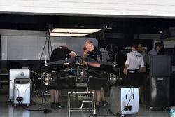 Mercedes AMG F1 F1 W08 in the garage