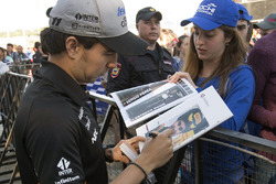 Sergio Perez, Sahara Force India signs autographs for the fans at the autograph session