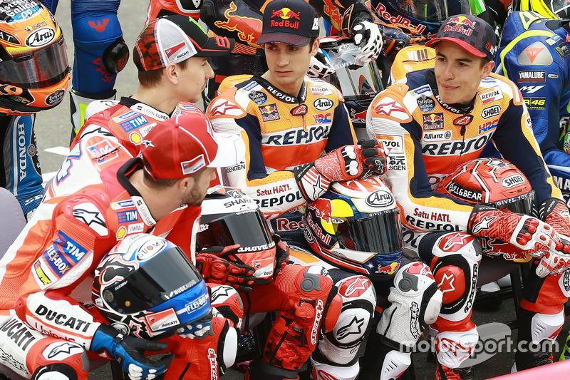 Andrea Dovizioso, Jorge Lorenzo, Dani Pedrosa dan Marc Marquez