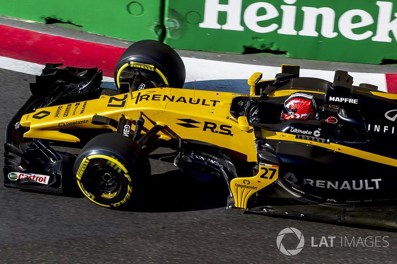 Nico Hulkenberg bateu sozinho, pouco depois do abandono de Felipe Massa, mas, ao contrário dos outros casos, o alemão se culpou.