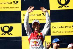 Podium: Racewinnaar Mattias Ekström, Audi Sport Team Abt Sportsline, Audi A5 DTM