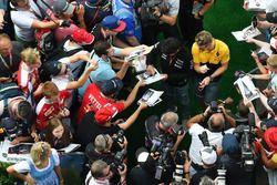 Nico Hülkenberg, Renault Sport F1 Team en Sergio Perez, Sahara Force India