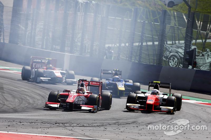 Charles Leclerc, PREMA Powerteam y Jordan King, MP Motorsport