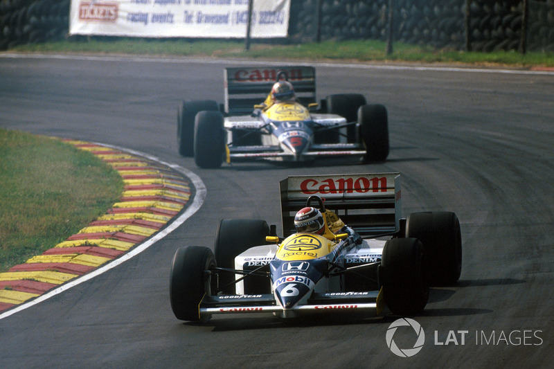 Nelson Piquet, Williams FW11, Nigel Mansell, Williams FW11
