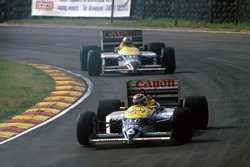 Nelson Piquet, Williams FW11; Nigel Mansell, Williams FW11