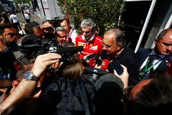 Sergio Marchionne, Chief Executive Officer, Fiat Chrysler and Chairman, Ferrari, Maurizio Arrivabene
