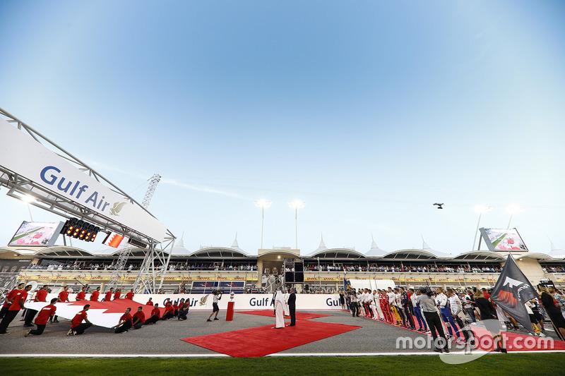 The pre race grid celebrations