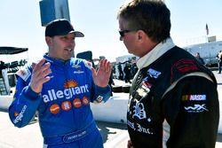 Johnny Sauter, GMS Racing Chevrolet and Joe Nemechek, SWM-NEMCO Motorsports Chevrolet