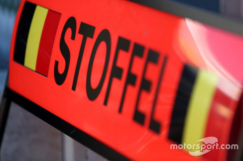 Boxentafel von Stoffel Vandoorne, McLaren MCL32