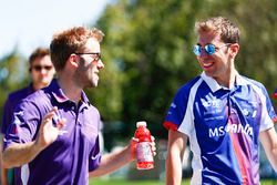 Sam Bird, DS Virgin Racing, et Robin Frijns, Amlin Andretti Formula E Team