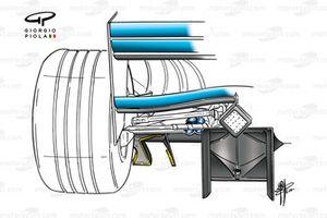 Benetton B200 2000 diffusor detail