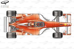 Vue de haut de la Ferrari F2003-GA