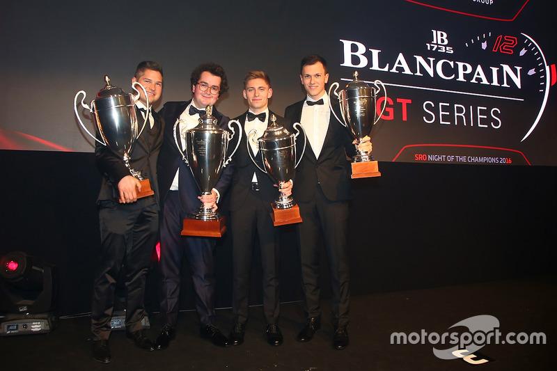 2016 Copa Sprint todos los pilotos, Enzo Ide, campeón, Christopher Mies, segundo lugar, Dominik Baumann, Maximilian Buhk, tercer lugar