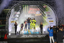 Podium: winners Valentino Rossi, Carlo Cassina, second place Daniel Sordo, Marc Marti