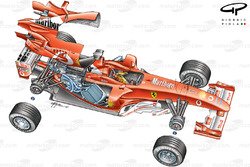 Ferrari F2003-GA (654) 2003 exploded overview