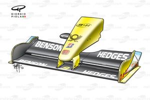 Jordan EJ12 2002 Spain front wing and nose