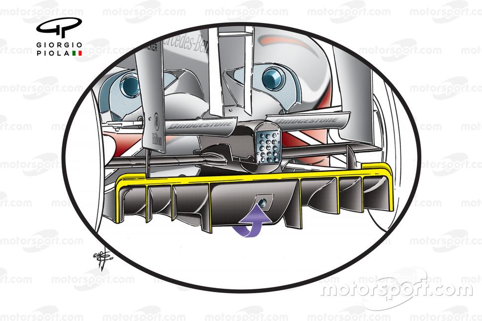 McLaren MP4-24 2009 diffuser detail