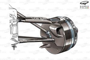 Toyota TF106B front brake detail