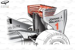 Aileron arrière de la McLaren MP4-24, à Spa