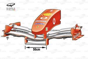 Переднее антикрыло и носовой обтекатель Ferrari F2004M (655)