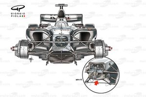 McLaren MP4-19 2004 chassis comparison with MP4-18