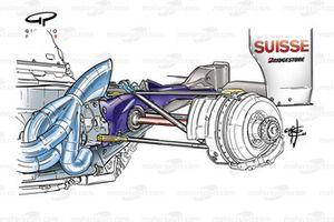 Sauber C23 2004 rear suspension