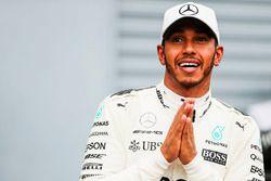 Lewis Hamilton, Mercedes AMG F1, après sa 69e pole position