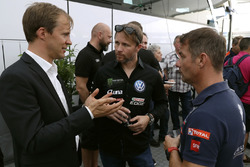 Mattias Ekström, EKS, Petter Solberg, PSRX Volkswagen Sweden, Sebastien Loeb, Team Peugeot-Hansen