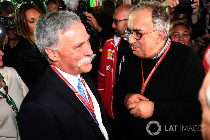 Chase Carey, Chief Executive Officer and Executive Chairman of the Formula One Group and Sergio Marc