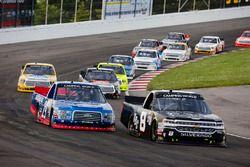 John Hunter Nemechek, SWM-NEMCO Motorsports Chevrolet y Chase Briscoe, Brad Keselowski Racing Ford