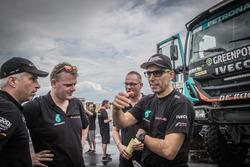 #507 Team De Rooy, IVECO: Ton Van Genugten, Anton Van Limpt, Bernard Der Kinderen and Gerard De Rooy