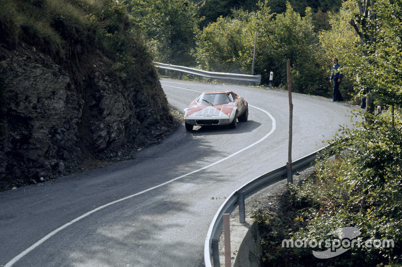 sandro munari, mauro mannucci, lancia stratos at rally san remo on