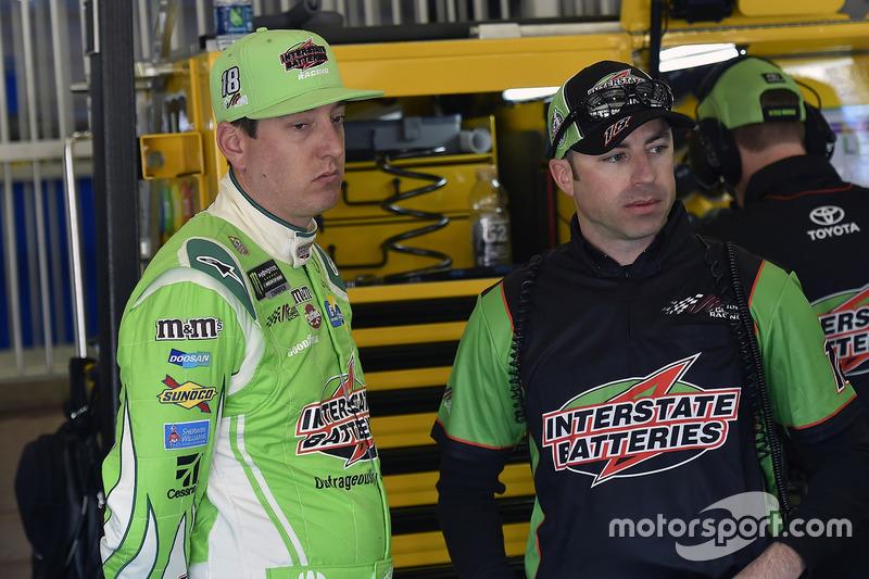Kyle Busch, Joe Gibbs Racing, Toyota, mit Adam Stevens