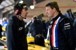 Michael McDowell, Leavine Family Racing Chevrolet and Jon Leonard