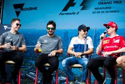 A fan event with Stoffel Vandoorne, McLaren, Fernando Alonso, McLaren, Felipe Massa, Williams, Kimi
