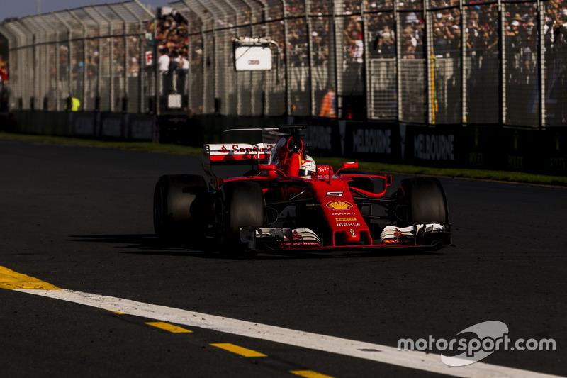 Giro 57, Ferrari - Sebastian Vettel