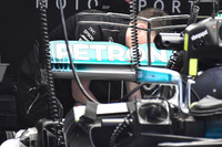 Mercedes AMG F1 W08 rear wing detail