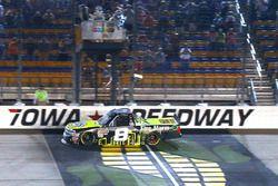 John Hunter Nemechek, SWM-NEMCO Motorsports Chevrolet takes the win