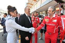 Illham Aliyev, President of Azerbaijan, Maurizio Arrivabene, Ferrari Team Principal